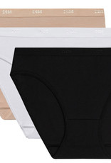 Dim ondergoed Dim EcoDim driedelig cotton stretch slipset mt 34/36 tm 42/44 in zowel basis als modetinten