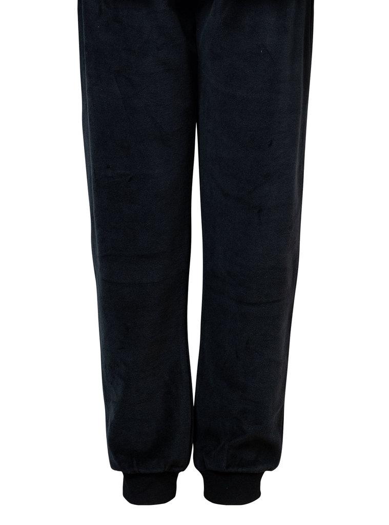 Lunatex Lunatex Reece velours jongenspyjama kleur blauw gestreept  & grijze broek de mt 128 t/m 176