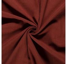 Leinen Stoff vorgewaschen rostrot brown 140 cm breit