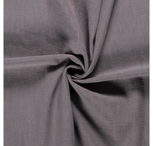Leinen Stoff vorgewaschen dunkelgrau 140 cm breit