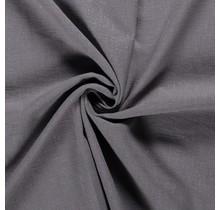 Leinen Stoff vorgewaschen mittelgrau 140 cm breit