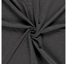 French Terry Premium meliert dunkelgrau 155 cm breit