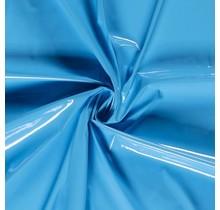 Lackstoff aquablau 138 cm breit