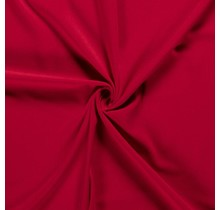 Crêpe Stoff rot 144 cm breit
