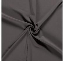 Crêpe Stoff taupe grau 144 cm breit