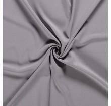 Crêpe Stoff hellgrau 144 cm breit