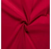Baumwoll Popeline Stoff Stretch rot 144 cm breit