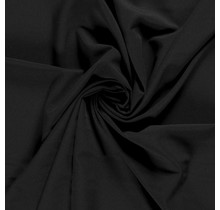 Polyester Viskose stretch schwarz 144 cm breit