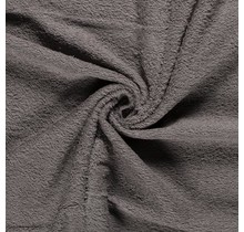 Frottee taupe grau 140 cm breit