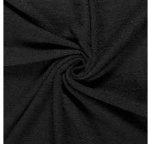 Frottee schwarz 140 cm breit