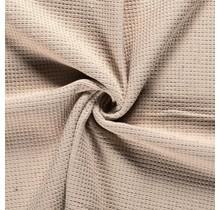Frottee Waffelpique beige 140 cm breit