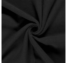 Frottee Waffelpique schwarz 140 cm breit