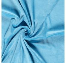 Nicki Stoff Uni aquablau 147 cm breit