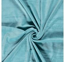 Nicki Stoff Uni türkis 147 cm breit