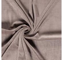 Nicki Stoff Uni taupe braun 147 cm breit