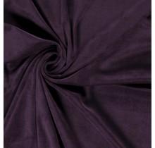 Nicki Stoff Uni aubergine 147 cm breit