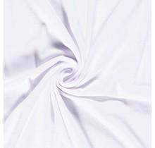 Nicki Stoff Uni weiss 147 cm breit