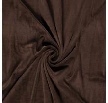 Nicki Stoff Uni dunkelbraun 147 cm breit