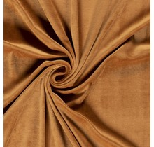 Nicki Stoff Uni karamell 147 cm breit