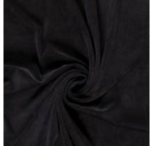 Nicki Stoff Uni schwarz 147 cm breit