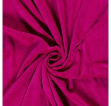 Nicki Stoff Uni hot pink 147 cm breit