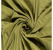 Nicki Stoff Uni oliv 147 cm breit