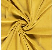 Nicki Stoff Uni ockergelb 147 cm breit