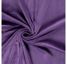 Nicki Stoff Uni lila 147 cm breit