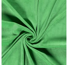 Nicki Stoff Uni grasgrün 147 cm breit
