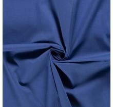 Popeline Stoff Uni königsblau 144 cm breit