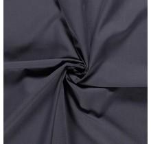 Popeline Stoff Uni dunkelgrau 144 cm breit