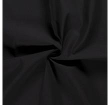 Popeline Stoff Uni schwarz 144 cm breit