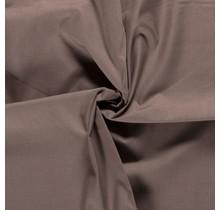Popeline Stoff Uni taupe braun 144 cm breit