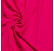 Krepp Georgette Uni hot pink 145 cm breit
