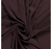 Krepp Georgette Uni dunkelbraun 145 cm breit