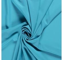 Krepp Georgette Uni türkis 145 cm breit