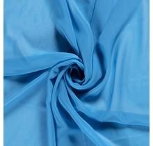 Chiffon aquablau 140 cm breit