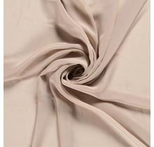 Chiffon beige 140 cm breit