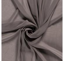 Chiffon taupe grau 140 cm breit