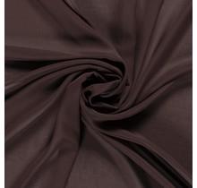 Chiffon dunkelbraun 140 cm breit