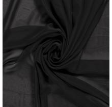 Chiffon schwarz 140 cm breit