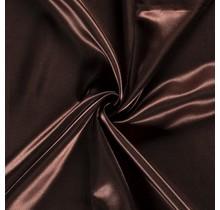 Brautsatin braun 147 cm breit