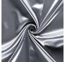 Brautsatin hellgrau 147 cm breit