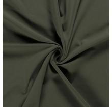 Baumwolljersey khaki grün 160 cm breit