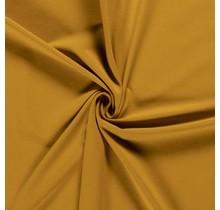 Baumwolljersey ockergelb 160 cm breit