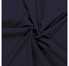 Baumwolljersey navy 160 cm breit