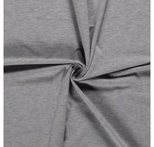 Baumwolljersey meliert hellgrau 160 cm breit