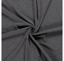 Baumwolljersey meliert mittelgrau 160 cm breit