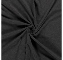 Baumwolljersey meliert dunkelgrau 160 cm breit