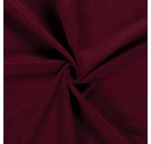 Baumwolljersey angeraut bordeauxrot 155 cm breit